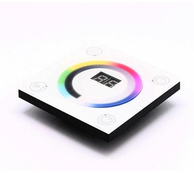 LED RGBW ovladač dotykový panel bílá RF - 1