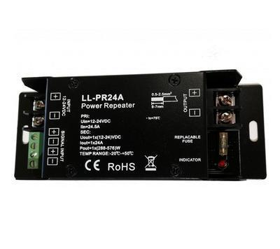 LL - PR24A jednokanálový zesilovač signálu 1x24A  - 1