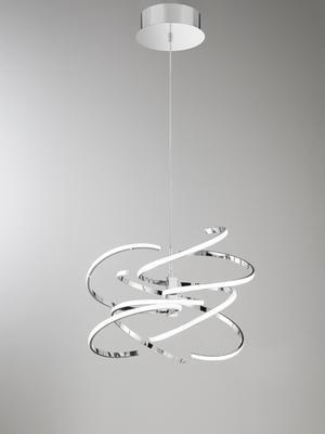 PERENZ - Závěsný lustr, 6397 - chromová  - 1