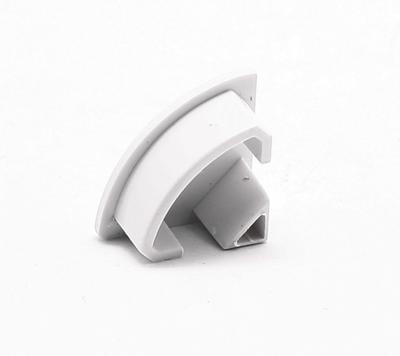 Koncovka ALU profil rohový 16x16mm oválná - 1