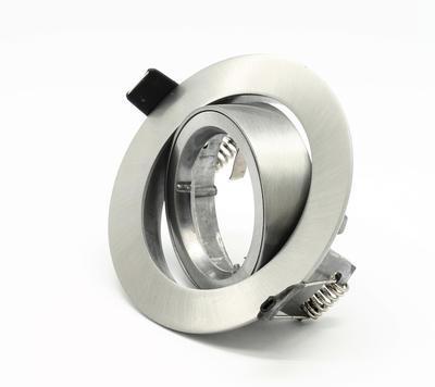 Rámeček MR16 kulatý broušený hliník 11105C - 1