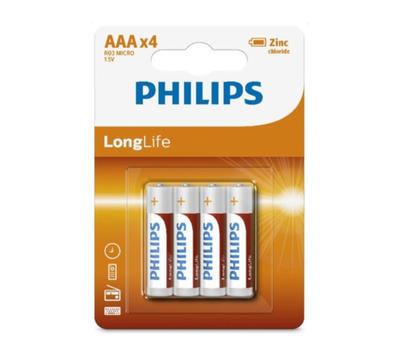 Baterie Philips R03L4B/10 Long Life AAA / 4