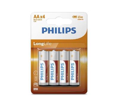 Baterie Philips R6L4B/10 Long Life AA / 4