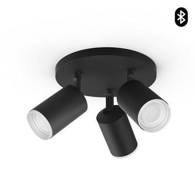 Fugato plate/spiral black 3x5.7W 240V - 1