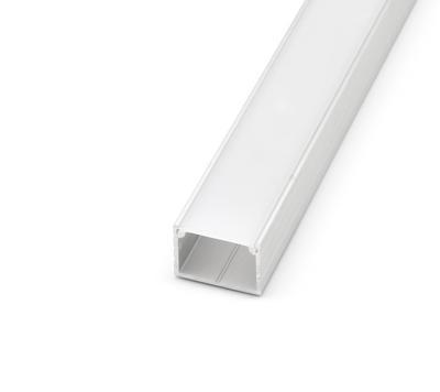 ALU profil přisazený 18x13mm matná krytka 1m - 1