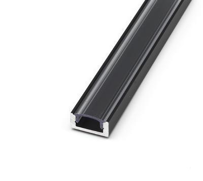 ALU přisazený černý 17,4x8 délka 1m krytka čirá - 1