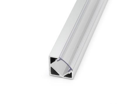 ALU profil rohový 18,5x18,5 délka 2m krytka čirá - 1