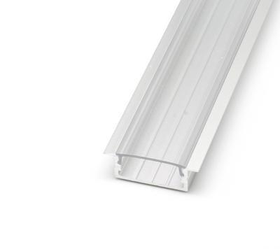 ALU profil zápustný 23x10 délka 2m krytka čirá - 1