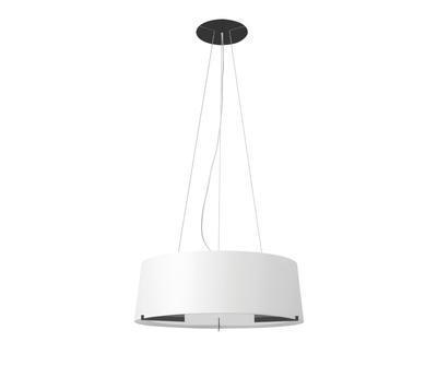 AITANA - závěsná lampa, Černá / bílé stínidlo, průměr 75 cm - 1