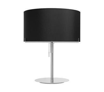 AITANA - stolní lampa, matný kov / černé stínidlo
