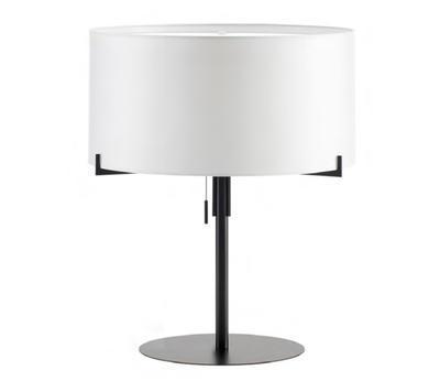 AITANA - stolní lampa, černý kov / bílé stínidlo