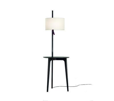 CARLA - stojací lampa, černý dub, bílá