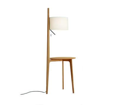 CARLA - stojací lampa, přírodní dub, béžová