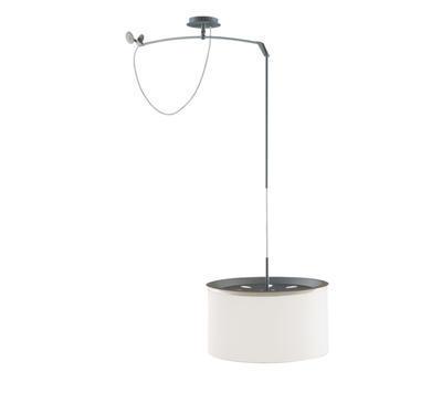 FINGER - závěsná lampa, průměr 38 cm bílé stínidlo - 1