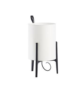 GRETA - stolní lampa, Ø 33 cm / černý dub - 1