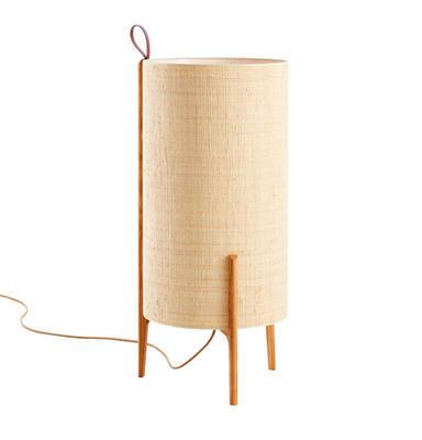 GRETA - stojací lampa, přírodní dub, béžová