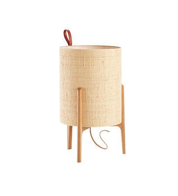 GRETA - stolní lampa, Ø 33 cm / přírodní dub  - 1