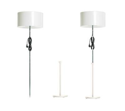 HARRY - Venkovní stojací lampa, bílá