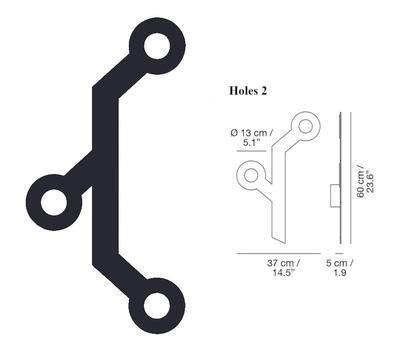 HOLES - nástěnná lampa, Holes 3, černá
