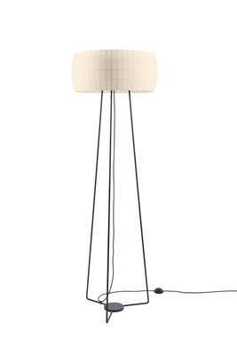 ISAMU - stojací lampa, perlová
