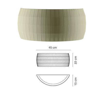 ISAMU - nástěnné světlo, olivově zelená