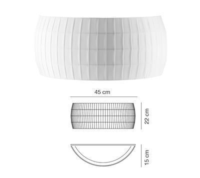 ISAMU - nástěnné světlo, bílá