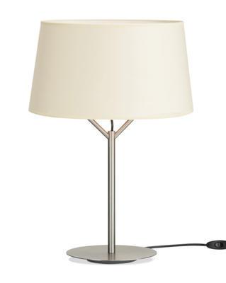 JERRY - stolní lampa, Ø 45 cm, konstrukce matný nikl / stínidlo béžové - 1