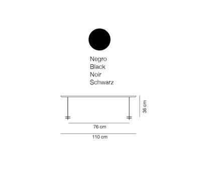 LINEAL - stolní lampa, 110 cm, černá