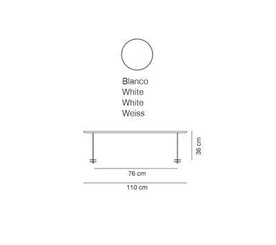LINEAL - stolní lampa, 110 cm, bílá