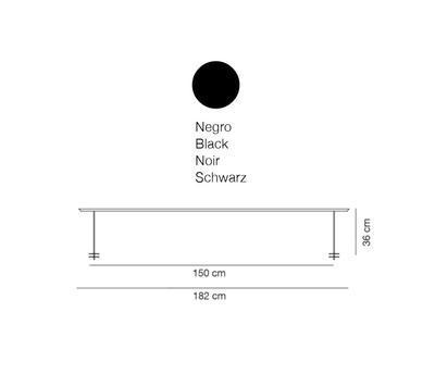 LINEAL - stolní lampa, 182 cm, černá