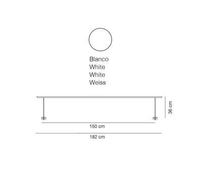 LINEAL - stolní lampa, 182 cm, bílá