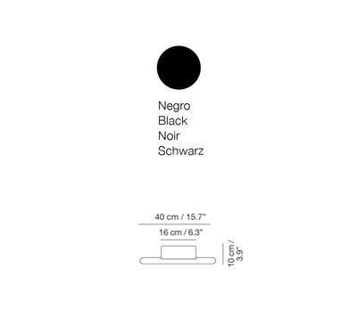 LINEAL - nástěnná lampa, 40 cm, černá
