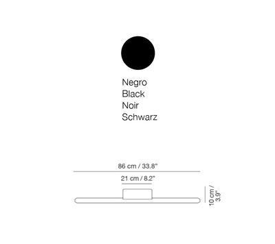 LINEAL - nástěnná lampa, 86 cm, černá