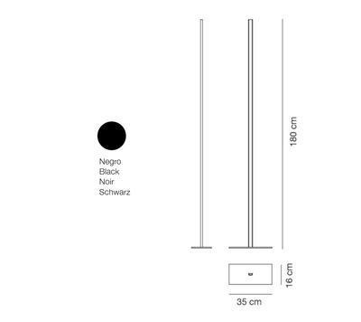 LINEAL - stojací lampa, černá