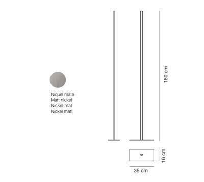 LINEAL - stojací lampa, matný nikl