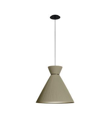 MANDARINA - závěsná lampa, průměr 43 cm olivově zelená - 1