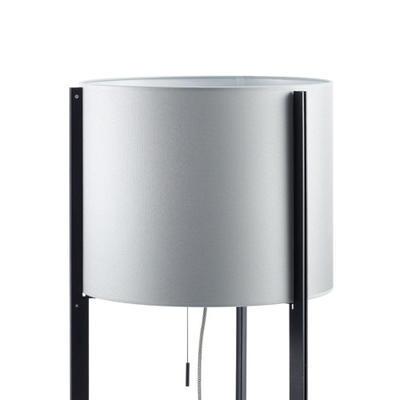 NIRVANA - stojací lampa, konstrukce černá, stínidlo kovově šedé