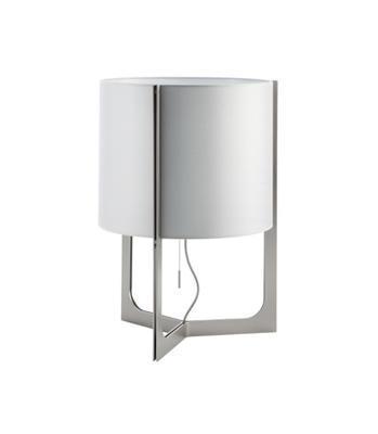 NIRVANA - stolní lampa, Ø 32 cm matný nikl, stínidlo kovově šedé - 1