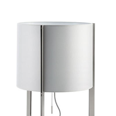 NIRVANA - stojací lampa, konstrukce matný nikl, stínidlo kovově šedé