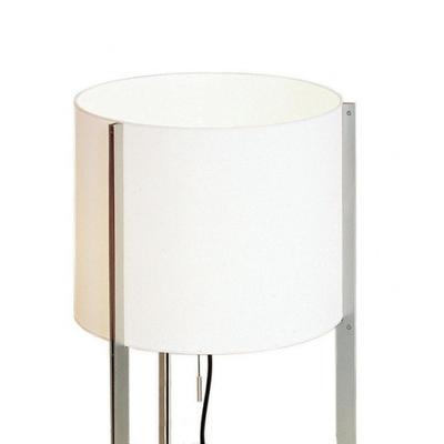 NIRVANA - stojací lampa, konstrukce matný nikl, stínidlo bílé