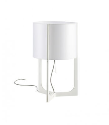 NIRVANA - stolní lampa, Ø 32 cm bílá, stínidlo bílé - 1