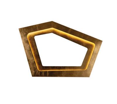NURA - stropní nebo nástěnné světlo, zlaté lístky
