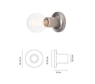 PUNT - nástěnná nebo stropní lampa, matný nikl