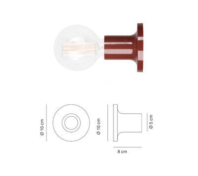 PUNT - nástěnná nebo stropní lampa, cihlová