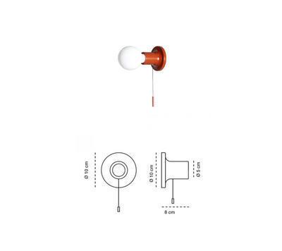 PUNT - nástěnná nebo stropní lampa, cihlová s vypínačem