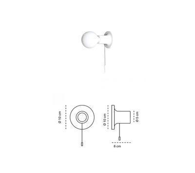 PUNT - nástěnná nebo stropní lampa, bílá s vypínačem