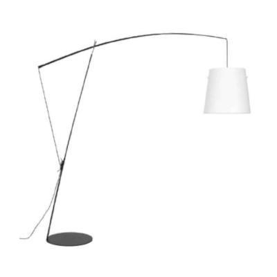 ROBIN - stojací lampa, černá konstrukce / bílá bavlna