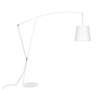 ROBIN - stojací lampa, bílá konstrukce / bílá polykarbonát