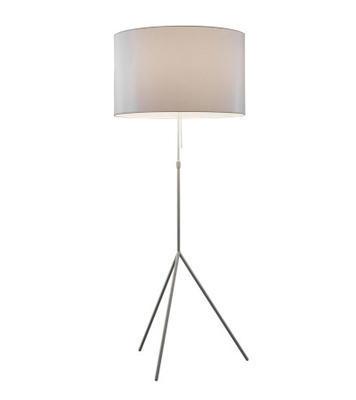 SIGNORA - stojací lampa, L (Ø 55 cm), matný nikl / béžová - 1