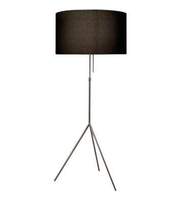 SIGNORA - stojací lampa, L (Ø 55 cm), matný nikl / černá - 1